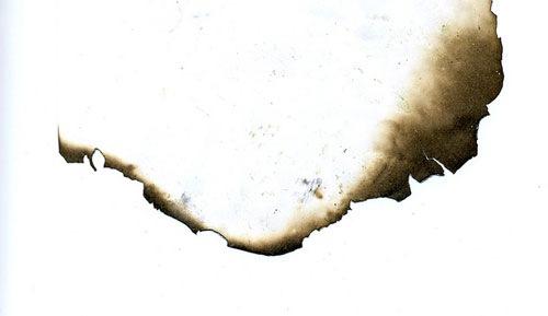 Обгоревший листок бумаги
