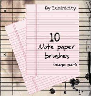 10 кистей листков тетради