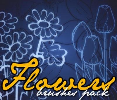 Кисти рисунков цветов