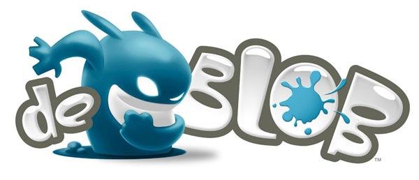 забавный логотип игры  De Blob