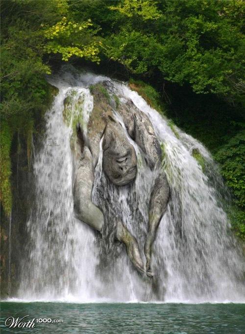 человек-водопад