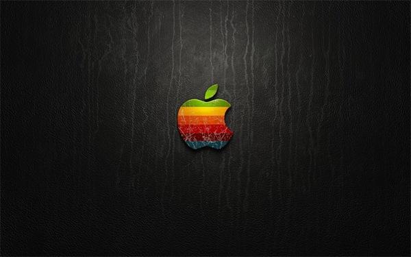apple на темном гранжевом фоне