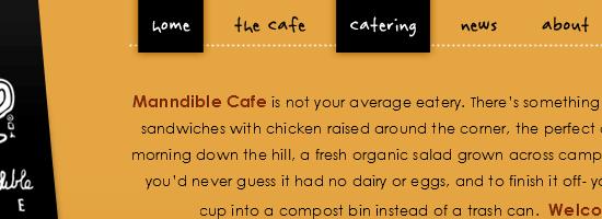 """Шрифт """"от руки"""" в меню сайта"""