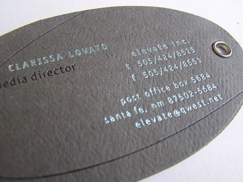 визитка под кожу