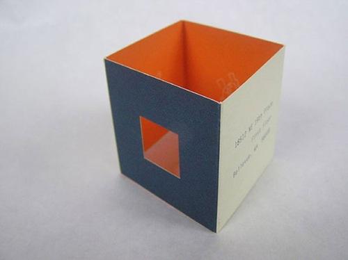 визитка-домик