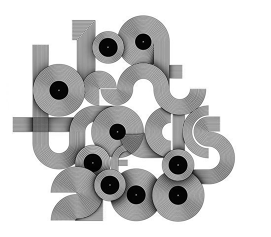 типографическая обложка для журнала