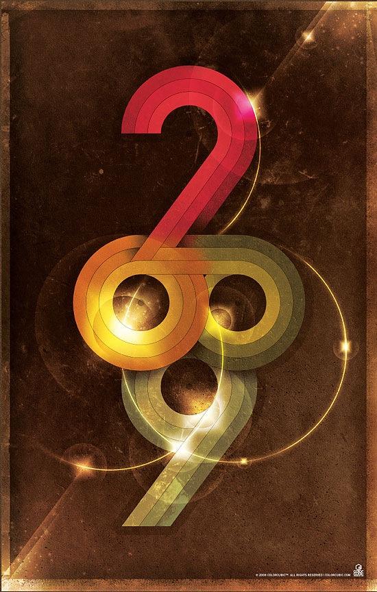 типографический ретро постер