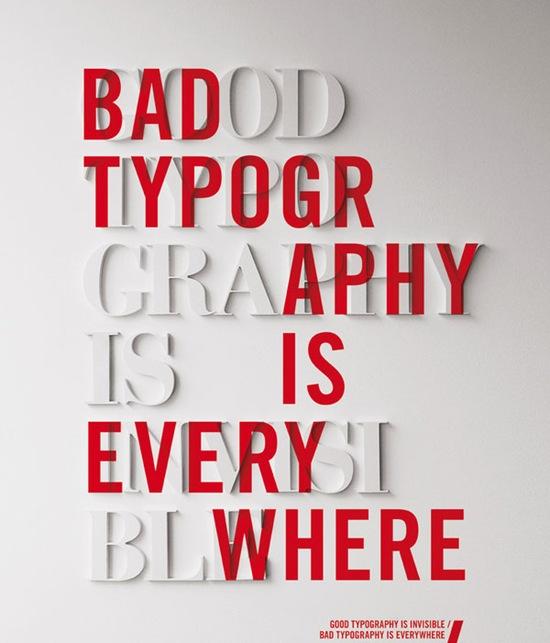 двойная типографическая надпись