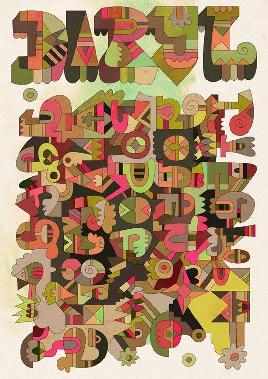 иллюстрированная типографика