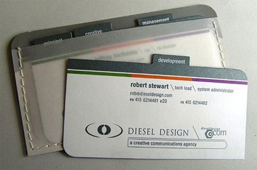 визитки в фотрме папки