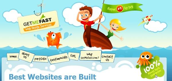 яркие иллюстрации в дизайне сайта