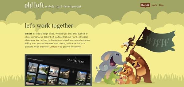 иллюстрации животных в дизайне сайта