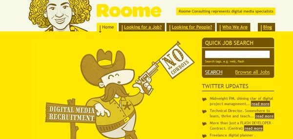 иллюстрация ковбоя на сайте
