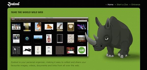 иллюстрация носорога на сайте