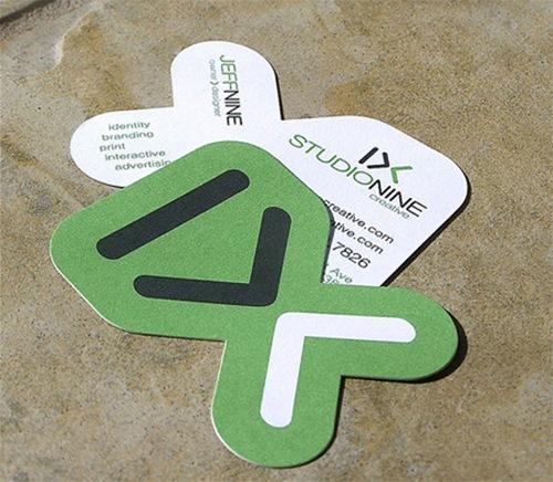 визитка в виде логотипа