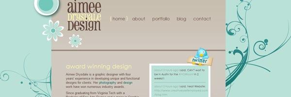 векторные цветы в дизайне сайта