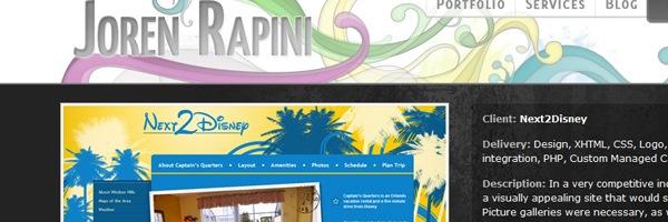 абстрактные цветы в дизайне сайта