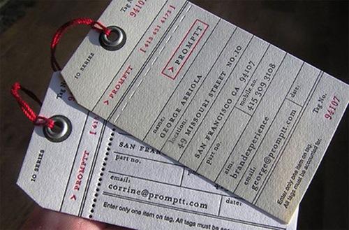 визитки в виде пропусков