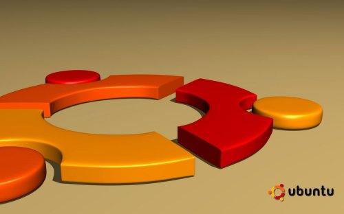 логотип Ubuntu в  3D