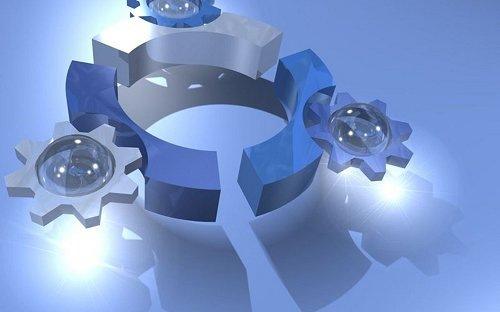 стеклянный 3D логотип Ubuntu