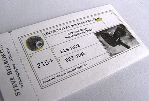 ретро визитка