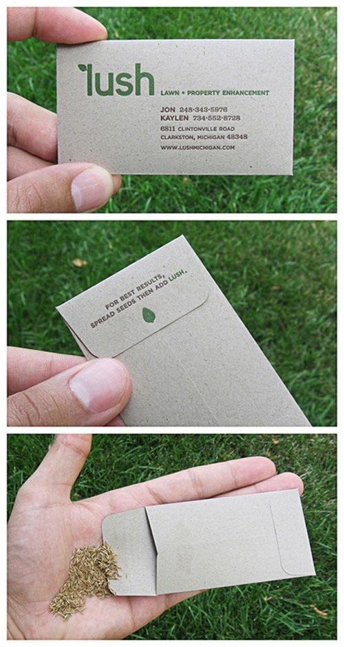 визитка-пакетик для семян