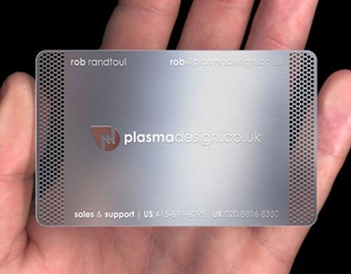 визитная карточка с сеткой