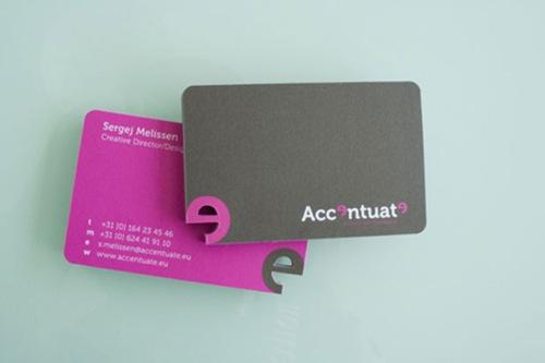стильная яркая визитная карточка