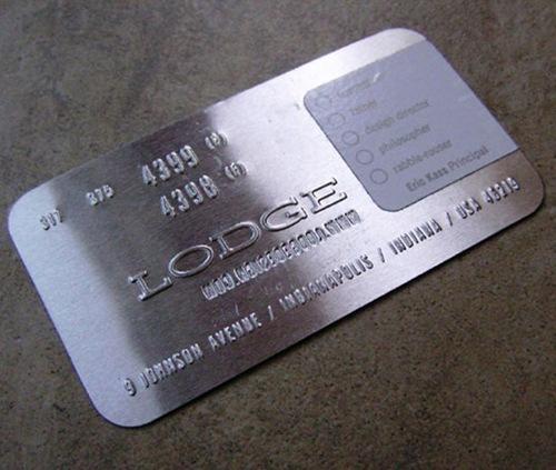 7креативная визитная карточка из металла