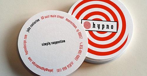гипнотический дизайн визитки