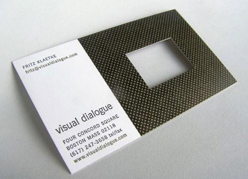 визитка с окошком