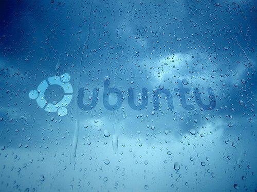 голубой дождь ubuntu