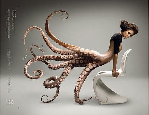 девушка осьминог