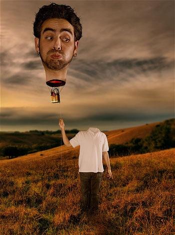 голова воздушный шар