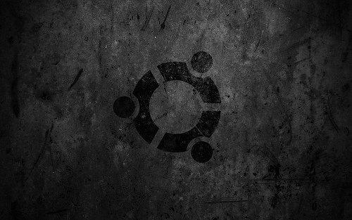темные гранжевые обои ubuntu
