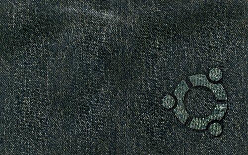 джинсовые обои ubuntu