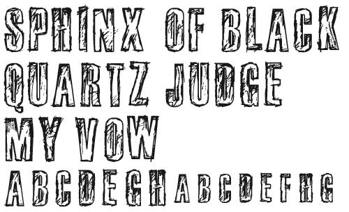 Обведенный шрифт