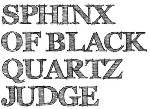 Зарисованный шрифт