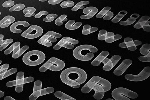 креативный шрифт в виде пружин