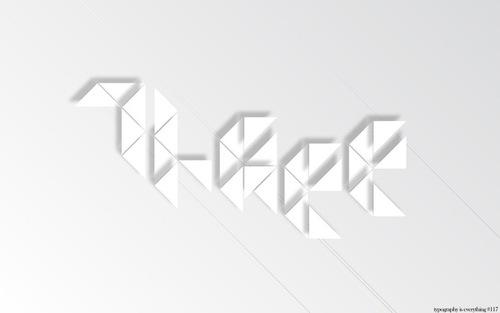 типографический шрифт из треугольников
