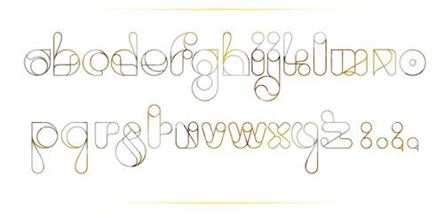 Креативный трафаретный шрифт