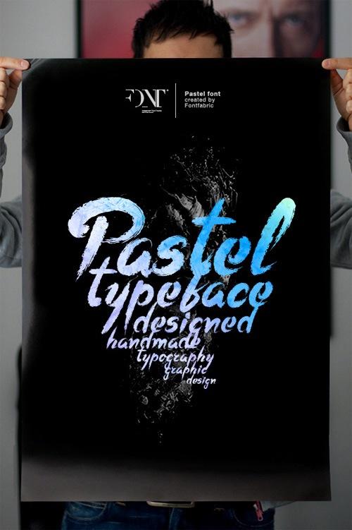 постер с типографическим шрифтом