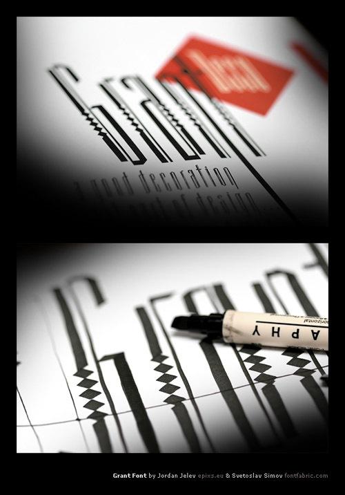узорчатый типографический шрифт