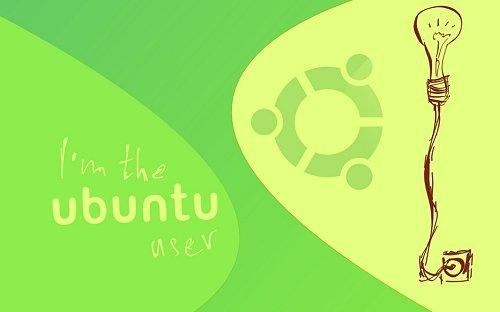 зеленый иллюстрированный ubuntu