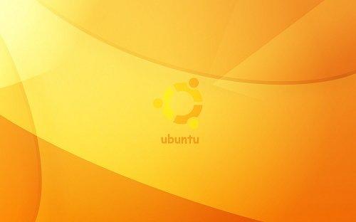 обои ubuntu в оранжевых тонах