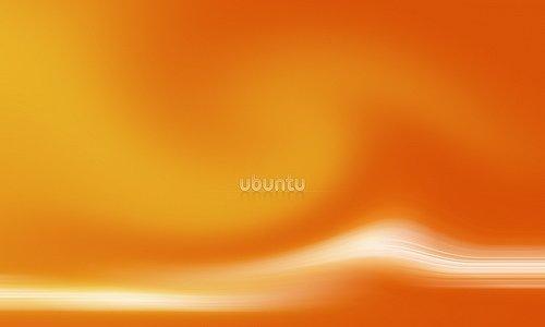 оранжевые обои ubuntu