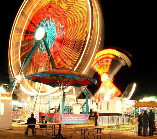 Клубничный фестиваль в ночи