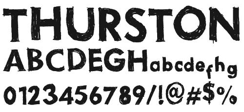Наведенный гранжевый шрифт