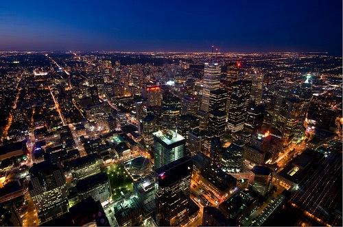 Ночное небо Торонто