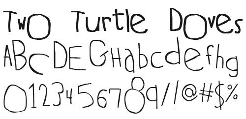 Шрифт с знаками и буквами различных размеров